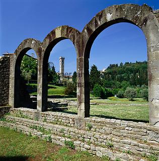 Italy, Tuscany, Fiesole near Florence: Roman Theatre Complex | Italien, Toskana, Fiesole, bei Florenz: roemisches Theater