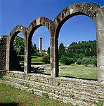 Italy, Tuscany, Fiesole near Florence: Roman Theatre Complex | Italien, Toskana, Fiesole, bei Florenz: roemisches Theater