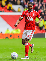 Nottingham Forest's defender Tendayi Darikwa (27) during the Sky Bet Championship match between Nottingham Forest and Derby County at the City Ground, Nottingham, England on 10 March 2018. Photo by Stephen Buckley / PRiME Media Images.