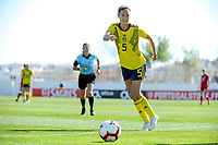 20200307  Lagos , Portugal : Swedish Emma Kullberg (5) pictured during the female football game between the national teams of Sweden and Denmark on the second matchday of the Algarve Cup 2020 , a prestigious friendly womensoccer tournament in Portugal , on saturday 7 th March 2020 in Lagos , Portugal . PHOTO SPORTPIX.BE | STIJN AUDOOREN