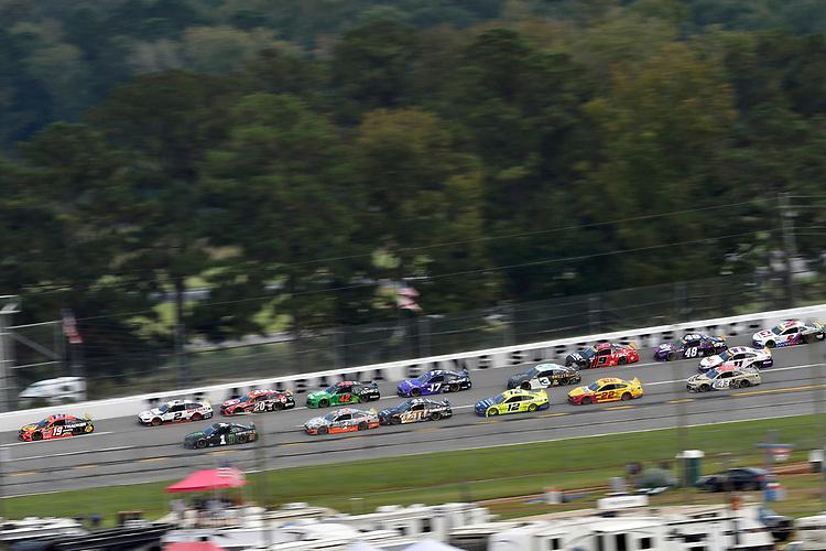 #1: Kurt Busch, Chip Ganassi Racing, Chevrolet Camaro Monster Energy and #19: Martin Truex Jr., Joe Gibbs Racing, Toyota Camry Bass Pro Shops