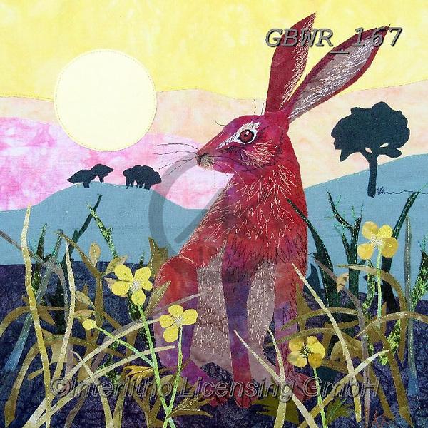 Simon, REALISTIC ANIMALS, REALISTISCHE TIERE, ANIMALES REALISTICOS, innovative, paintings+++++KateFindlay_SunriseHare,GBWR167,#a#, EVERYDAY,rabbit
