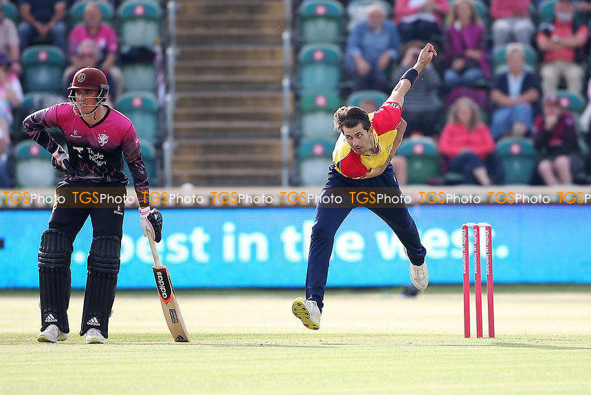 Jack Plom in bowling action for Essex during Somerset vs Essex Eagles, Vitality Blast T20 Cricket at The Cooper Associates County Ground on 9th June 2021