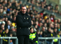 Michael Appleton manager of Oxford United   during the Emirates FA Cup 3rd Round between Oxford United v Swansea     played at Kassam Stadium  on 10th January 2016 in Oxford