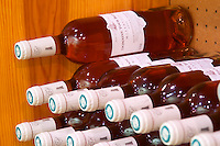 Rose wine. Domaine La Tour Boisee. In Laure-Minervois. Minervois. Languedoc. Bottle cellar. France. Europe. Bottle.