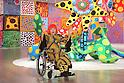 Yayoi Kusama attends preview for Yayoi Kusama: My Eternal Soul exhibition