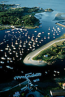 Cohasset harbor aerial, Cohasset, MA south shore