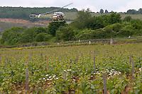 Michel Picard in his helicopter vineyard le montrachet puligny-montrachet cote de beaune burgundy france