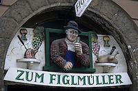 """Europe/Autriche/Niederösterreich/Vienne: Enseigne du restaurant """"Zum Figlmüller"""""""