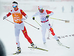 Sochi, RUSSIA - Mar 12 2014 -  Brain McKeever with his guide Graham Nishikawa competes in the Men's 1km Sprint Visually Impaired Qualification at the 2014 Paralympic Winter Games in Sochi, Russia.  (Photo: Matthew Murnaghan/Canadian Paralympic Committee)