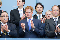 Prince Harry watches the England game
