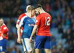 Aldin Zubaidi puts the head on Martyn Waghorn