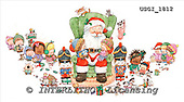 GIORDANO, CHRISTMAS SANTA, SNOWMAN, WEIHNACHTSMÄNNER, SCHNEEMÄNNER, PAPÁ NOEL, MUÑECOS DE NIEVE, paintings+++++,USGI1812,#X# stickers