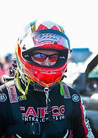 Oct 14, 2019; Concord, NC, USA; NHRA top fuel driver Billy Torrence during the Carolina Nationals at zMax Dragway. Mandatory Credit: Mark J. Rebilas-USA TODAY Sports