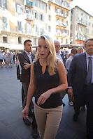 Nice le 15 Juillet 2016 Promenade des Anglais le lieu de l attentat perpÈtrer hier soir juste apres le feu d artifice du 14 Juillet devant la Cathedrale Sainte Reparate Vieux Nice arrivee de Marion Marechal le Pen
