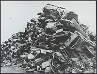 environmental pollution of a cars scrapyard
