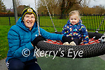 Dell White with her grad daughter Ava McGuire enjoying the playground in the Tralee town park on Saturday.