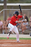 Austin Bode (19) during the WWBA World Championship at the Roger Dean Complex on October 12, 2019 in Jupiter, Florida.  Austin Bode attends Columbus North High School in Columbus, IN and is committed to Louisville.  (Mike Janes/Four Seam Images)