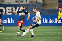 FOXBOROUGH, MA - OCTOBER 19: Jack Elliott #3 of Philadelphia Union brings the ball forward during a game between Philadelphia Union and New England Revolution at Gillette on October 19, 2020 in Foxborough, Massachusetts.