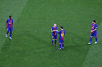 FC Barcelona's Ousmane Dembele, Andres Iniesta, Leo Messi and Luis Suarez during Spanish King's Cup Final match. April 21,2018. (ALTERPHOTOS/Acero)