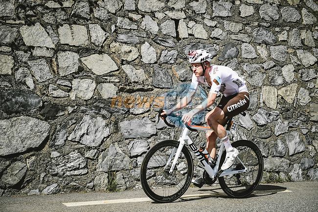 Dorian Godon (FRA) AG2R Citroen Team from the breakaway during Stage 17 of the 2021 Tour de France, running 178.4km from Muret to Saint-Lary-Soulan Col du Portet, France. 14th July 2021.  <br /> Picture: A.S.O./Pauline Ballet | Cyclefile<br /> <br /> All photos usage must carry mandatory copyright credit (© Cyclefile | A.S.O./Pauline Ballet)