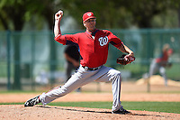 Washington Nationals pitcher Dixon Anderson (20) during a minor league spring training game against the Atlanta Braves on March 26, 2014 at Wide World of Sports in Orlando, Florida.  (Mike Janes/Four Seam Images)