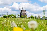 Historische Bockwindmühle in Vehlevanz, Oberkrämer, Oberhavel, Havelland, Brandenburg, Deutschland