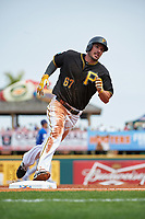 Pittsburgh Pirates right fielder Matt Joyce (67) running the bases during a Spring Training game against the Toronto Blue Jays  on March 3, 2016 at McKechnie Field in Bradenton, Florida.  Toronto defeated Pittsburgh 10-8.  (Mike Janes/Four Seam Images)