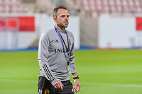 physical coach Dominique Henin of Belgium pictured before a soccer game between the national teams Under21 Youth teams of Belgium and Denmark on the fourth matday in group I for the qualification for the Under 21 EURO 2023 , on tuesday 12 th of october 2021  in Leuven , Belgium . PHOTO SPORTPIX   STIJN AUDOOREN