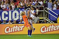 Atlanta, GA - Sunday Sept. 18, 2016: Stefanie van der Gragt, Carli Lloyd during a international friendly match between United States (USA) and Netherlands (NED) at Georgia Dome.