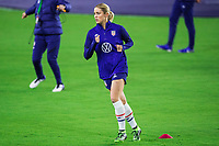 ORLANDO, FL - JANUARY 18: Abby Dahlkemper #7 of the USWNT running before a game between Colombia and USWNT at Exploria Stadium on January 18, 2021 in Orlando, Florida.