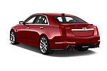 Car pictures of rear three quarter view of 2018 Cadillac CTS V V 4 Door Sedan Angular Rear