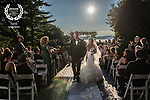 A sunset wedding ceremony at Tappan Hill Mansion.