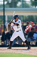 GCL Pirates designated hitter Samuel Inoa (54) at bat during a game against the GCL Yankees West on August 2, 2018 at Pirate City Complex in Bradenton, Florida.  GCL Pirates defeated GCL Yankees West 6-2.  (Mike Janes/Four Seam Images)