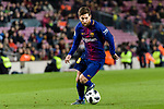 Lionel Messi of FC Barcelona runs with the ball during the Copa Del Rey 2017-18 match between FC Barcelona and Valencia CF at Camp Nou Stadium on 01 February 2018 in Barcelona, Spain. Photo by Vicens Gimenez / Power Sport Images