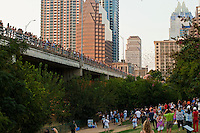 Bat watching is a fun, free activity, as each night hundreds of onlookers gather on the Congress Avenue Bridge to watch the bats take flight above the Lady Bird Town Lake, Austin, Texas.