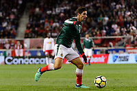 Harrison, NJ - Tuesday April 10, 2018: Isaac Brizuela during leg two of a  CONCACAF Champions League semi-final match between the New York Red Bulls and C. D. Guadalajara at Red Bull Arena. C. D. Guadalajara defeated the New York Red Bulls 0-0 (1-0 on aggregate).