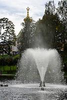 Große Kaskade im Park des Peterhof, St. Petersburg, Russland, UNESCO-Weltkulturerbe