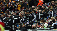 Pictured: Swansea team players and staff at Wembley stadium. Sunday 24 February 2013<br /> Re: Capital One Cup football final, Swansea v Bradford at the Wembley Stadium in London.