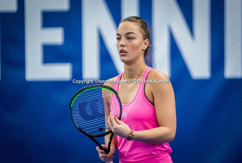 Amstelveen, Netherlands, 18  December, 2020, National Tennis Center, NTC, NK Indoor, National  Indoor Tennis Championships,   : Sem Wensveen (NED) <br /> Photo: Henk Koster/tennisimages.com
