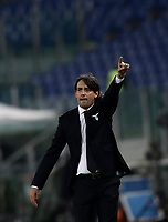 Europa League quarter-final 1st leg <br /> S.S. Lazio - FC Salzburg  Olympic Stadium Rome, April 5, 2018.<br /> Lazio's coach Simone Inzaghi gestures during the Europa League match between Lazio and Salzburg at Rome's Olympic stadium, April 5, 2018.<br /> UPDATE IMAGES PRESS/Isabella Bonotto