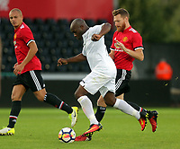 Adrian Forbes of Swansea (C) in action during the Swansea Legends v Manchester United Legends at The Liberty Stadium, Swansea, Wales, UK. Wednesday 09 August 2017