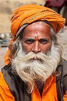 Nepal, Pashupatinath.  Hindu Sadhu (Ascetic).