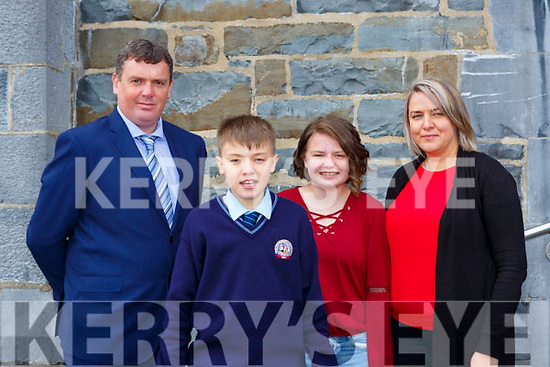 James, Adam, Tonya and Ciara O'Neill at St Olivers NS confirmation on Saturday