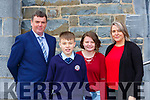 James, Adam, Tonya and Ciara O'Neill at St Olivers NS confirmation on Saturday
