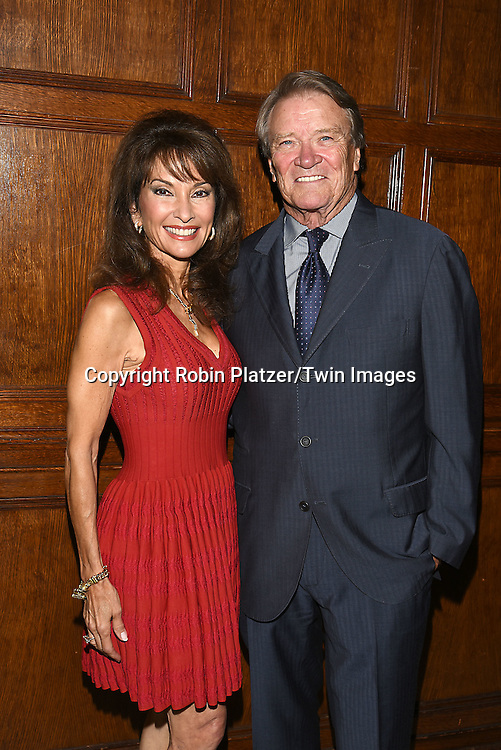 honorees Susan Lucci and Steve Kroft attends the Library of American Broadcasting  Annual Giants of Broadcasting Luncheon on October 6, 2016 at Gotham Hall in New York City. <br /> <br /> photo by Robin Platzer/Twin Images<br />  <br /> phone number 212-935-0770