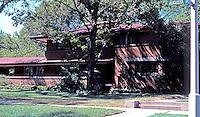 F.L. Wright: Harry S. Adams House, 710 Augusta St., Oak Park. 1913--14.  Photo '76.
