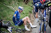 Tim Declercq (BEL/Deceuninck - Quick Step) involved in a crash with about 100km to go<br /> <br /> 105th Ronde van Vlaanderen 2021 (MEN1.UWT)<br /> <br /> 1 day race from Antwerp to Oudenaarde (BEL/264km) <br /> <br /> ©kramon