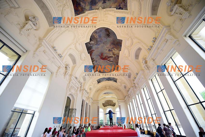 Trampolino elastico <br /> Parigi 23-06-2017 <br /> Manifestazione in favore della candidatura olimpica di Parigi per il 2024 <br /> Foto JB Autissier / Panoramic / Insidefoto