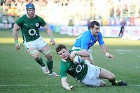 Brian O'Driscoll  (Irlanda) <br /> Italia vs Irlanda 11-13<br /> Six Nations Rugby<br /> Stadio Flaminio, Roma, 05/02/2011<br /> Photo Antonietta Baldassarre Insidefoto